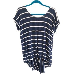 ANTHROPOLOGIE Pure + Good striped high low top XS